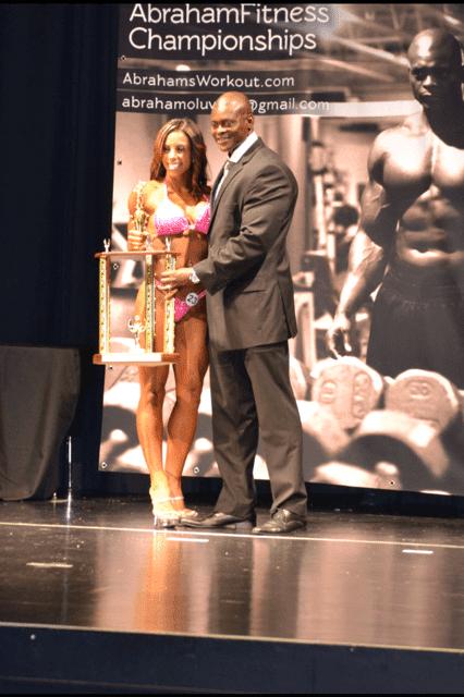 Naomi Winning Trophy